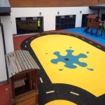 Play Area Surfacing in Abernant 8