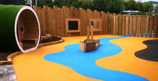 Play Area Surfaces in Aberfan