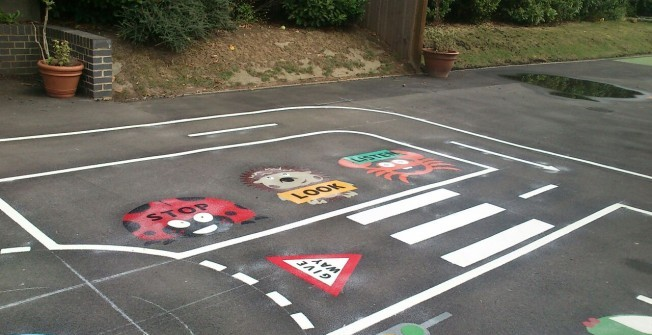 Thermoplastic Playground Markings in Priest Weston